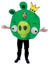 King Pig Angry Birds Green Costume Adult Halloween Party Unique Funny PM... - €55,24 EUR