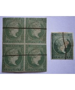 CUBA  1855 Stamps, Scott No.2 Queen Isabella 1r p (gray gr) imperforate ... - $20.00