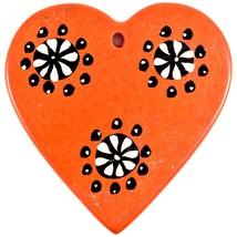 Tabaka Chigware Hand Carved Kisii Soapstone Orange Heart Stone Ornament image 2