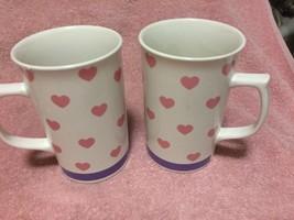 (2) STUDIO NOVA HEARTS COFFEE MUGS / CUPS--VALENTINE'S DAY--FREE SHIP--VGC - $17.45