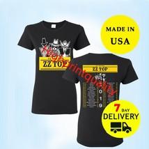 ZZ Top Shirt 50th Anniversary Tour 2019 T-Shirt Women Black Tee Size S-M... - $24.99+