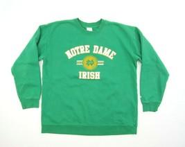 Vintage Notre Dame Fighting Irish Sweatshirt Adidas Crewneck Green L - $19.75