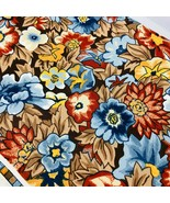 Vtg Riverdale Flowers Vat Color Screen Print Upholstery Fabric Scotchgua... - $49.49