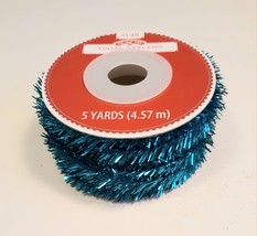 Turquoise tinsel garland, 5 yds - $1.00