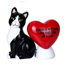 Nothing Like The Love of A Cat Ceramic Magnetic Salt and Pepper Shaker Set - $12.99