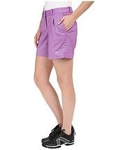 Nike Golf 725763 Women's sz 2 $75 Dri-fit Oxford Shorts Training Tennis PURPLE - $27.35