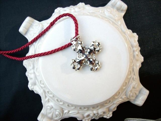 Cookie Lee Ruby Cross Necklace - Item 25290 - Genuine Crystal, New!