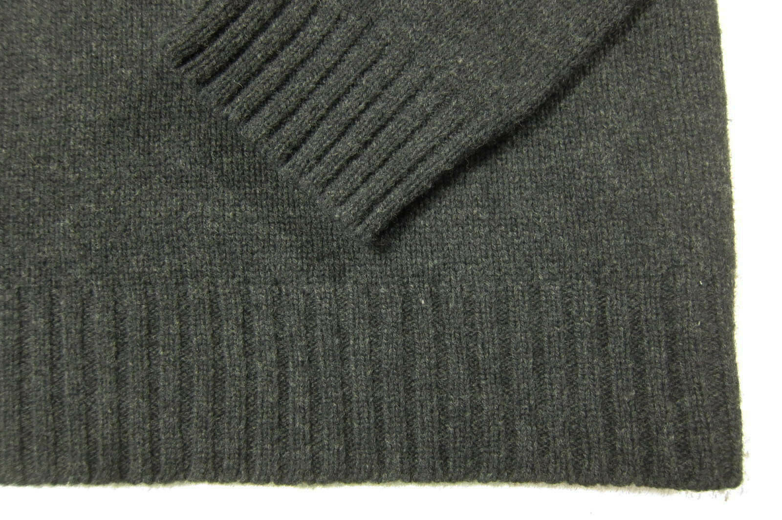 GORGEOUS Ralph Lauren Polo 100% Lambs Wool Gray Quarter Zip Sweater XL