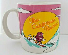 California Raisins Coffee Cup Mug Vintage 1988 Snow Skiing APPLAUSE #30088 - $14.84