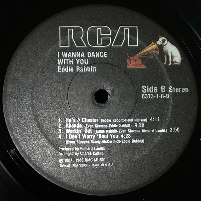 "Eddie Rabbitt  ""I Wanna Dance With You""  RCA Victor Record 6373-1-R     LP"