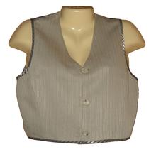 Emanuel Ungaro Womens Vest Waistcoat Ivory Herringbone Cropped Size 4 Eu... - $16.99