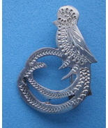 Vintage Sterling Silver Pin of Resplendent Quetzal - $20.00
