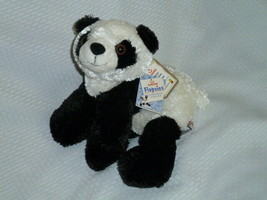 "AURORA FLOPSIES - Panda bear plush floppy bean bag NWT 10"" - $5.93"