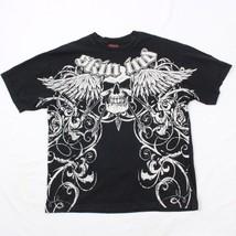 Vintage SKIN Industries T-shirt Extra Large Adult Black SKULL Wings MTX ... - $24.69