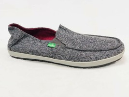 Sanuk Casa Tx Grey Herring Boat Canvas Shoe Mens Slip On Loafer SMF10510 - $39.99