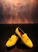 """""""Piergitar"""" New Men's Yellow  Velvet Shoe with Velvet Tassel ! - $174.99"""