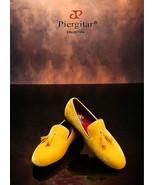 """""""Piergitar"""" New Men's Yellow  Velvet Shoe with Velvet Tassel ! - $194.99"""