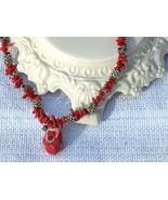 Cookie Lee Red Coral Necklace - Item #89129 - New! - $18.00