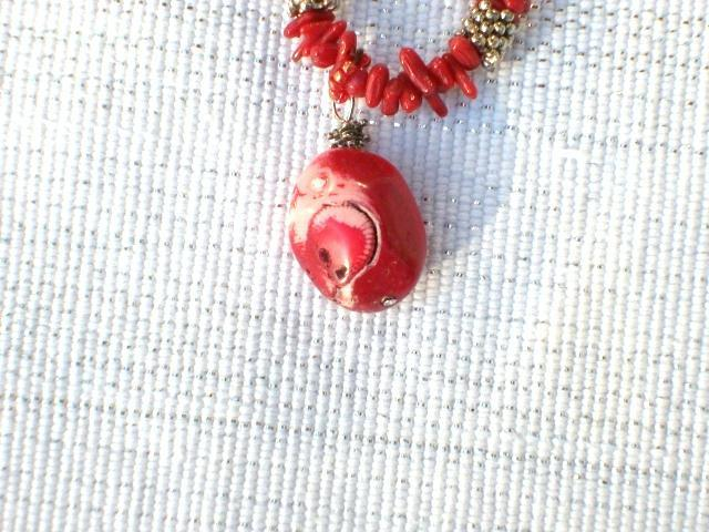 Cookie Lee Red Coral Necklace - Item #89129 - New!