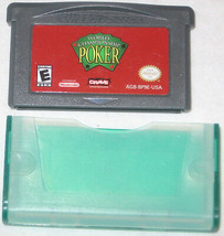 Campionato Del Mondo Poker Nintendo Game Boy Advance,2005 Spedizione Gra... - $7.05