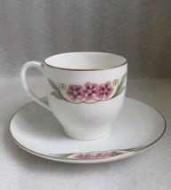 Antique Floral Leaf Hand Paint Art Deco Demitasse Cup Saucer Lhs Selb Bavaria - $9.89