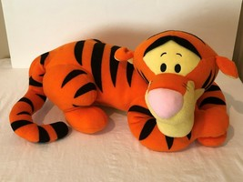 "Disney Tigger Plush 22"" Stuffed Animal Large Tiger Laying Down Big Soft Toy image 2"