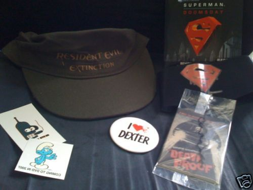 COMIC-CON Dexter button Resident Evil hat DeathProof Grindhouse Tarantino Poster