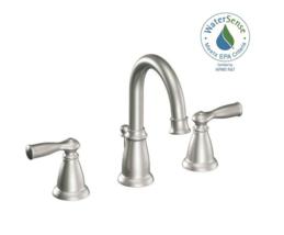 Banbury 8in. Widespred 2-Handle HighArc Bathroom Faucet Spot Resist Brush Nickel - $109.00