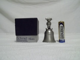 schmid pewter mickey mouse bell- new in box - $10.00