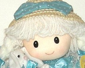 1/2 Price! Easter Girl Doll with Plush Bunny New with Tag