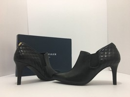 Cole Haan Maxfield Black Leather High Heel Shootie Ankle Boots Size 7 M - $94.94