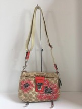Coach Crossbody Bag  Poppy Flower Sequin Limited Edition Floral Beige  47075 B9 image 2