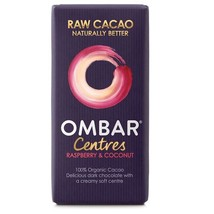 Ombar Raspberry & Coconut Raw Chocolate Centre 35g - $6.65