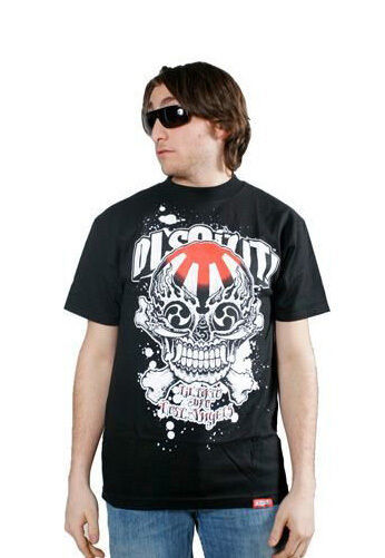 Dissizit! Black or White Jiro Skull Lil Tokyo Graffiti T-Shirt Los Angeles Slick
