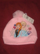 Disney Store Frozen Elsa & Anna Pink Winter Hat  Size XS  4/6 years. Bra... - $17.59
