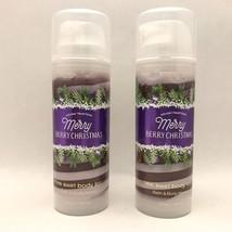 2 Bath & Body Works Merry Berry Christmas Shimmer Swirl Lotion 5 fl.oz 150 ml - $19.75