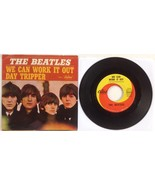 The Beatles We Can Work It Out Day Tripper 1966 Capitol 5555 45rpm + Pic... - $33.15