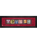Personalized Temple University Campus Letter Art Framed Print - $39.95