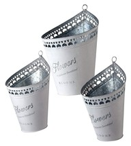 """National Tree Set of 3 Assorted Tin Pots with""""Flowers"""" RAS-HJRS15063 - $41.22"""