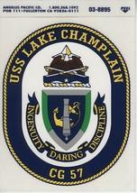 USS LAKE CHAMPLAIN CG 57 Decal Sticker US Navy - $1.24