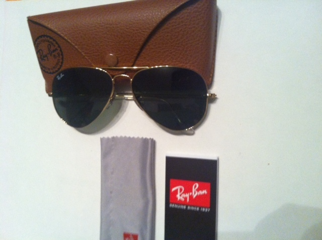 03e763407ca RAY-BAN Original AVIATOR gold Aviators sunglasses shade RB3025 Made in Italy  NEW -  248.00
