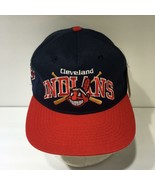 Vintage MLB Cleveland Indians #1 Apparel Snapback Cap Hat OSFA NWT - $59.40