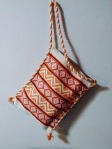 """Grecian Boho Kilim Bag 11.5""""x15"""" Colorful Spun Rayon Shoulder Hobo Hippie - $18.65"""