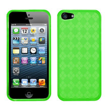 For APPLE iPhone SE/5S/5 Dr Green Argyle Candy Skin Cover Case - $9.90