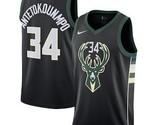 Milwaukee Bucks #34 Giannis Antetokounmpo Black Swingman Jersey - ₹3,062.11 INR