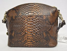 NWT Brahmin Mini Duxbury Shoulder Bag in Tortoise Seville Brown Embossed Leather image 9