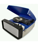 New old style Crosley Collegiate BLUE 3 Speed turntable record player  F... - $159.95