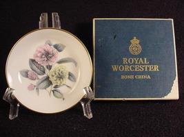 Royal Worcester Floral Coaster Pin Dish w/ Box - $14.99