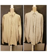 2 Old Navy Yellow Plaid Gray Striped Long Sleeve Button Up Shirts Men's ... - $28.00