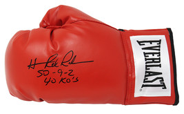 "Hasim Rahman Signed Everlast Red Boxing Glove w/ ""50-9-2, 40 KO's"" - $70.00"